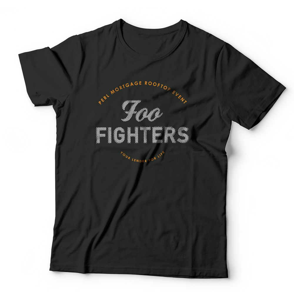 Foo Fighters t-shirt with halftone typography